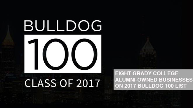 Nine Grady College Alumni-owned businesses on 2017 Bulldog 100 list.