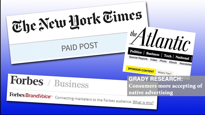 Grady Research: Consumers more accepting of native advertising