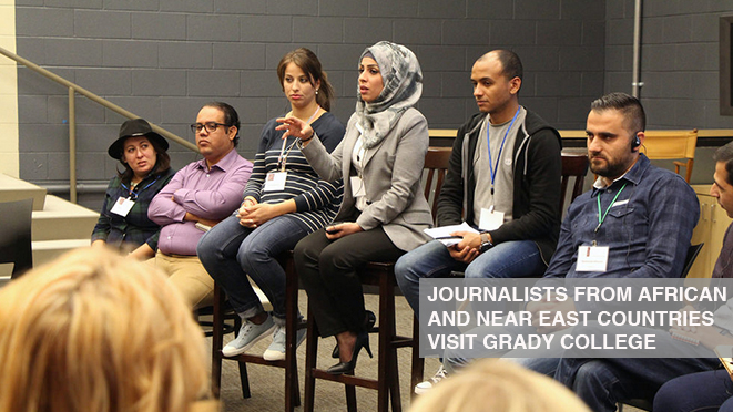Journalists from North Africa and the Near East visit Grady College