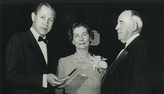 1941 Peabody Presentation with William S. Paley, Marjorie Peabody Waite and Steadman Sanford