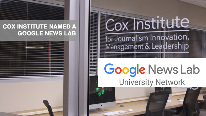 The Google News Lab at the Cox Institute will feature exclusive training through both in-person and remote sessions.