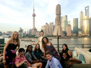 Grady students in China