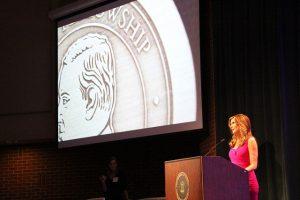 Julie Moran (ABJ '84) hosts the 2016 Grady Salutes.