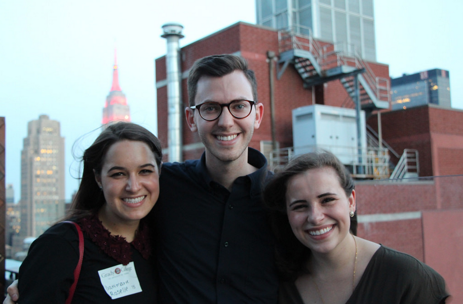NYC Alumni gathered with AdPR students visiting the city on an agency tour. The event was held at Lovage Rooftop on May 18, 2017.