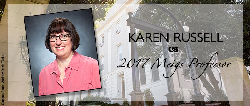 Karen Russell was named a 2017 Meigs Professor
