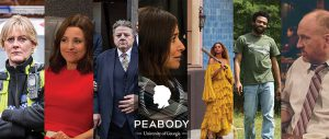 "Seven entertainment shows will be recognized at the 76th Peabody Awards on May 20, 2017. Those shows include (from left): ""Happy Valley,"" ""VEEP,"" ""National Treasure,"" ""Better Things,"" ""Lemonade,"" ""Atlanta,"" and ""Horace and Pete."""