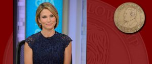 Amy Robach will be inducted into the Grady Fellowship April 28, 2017.