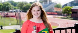 Emily Giambalvo was one of nine Grady Sports Media students who covered the 2016 Paralympic Games in Brazil. Photo by Dorothy Kozlowski/UGA Photography.