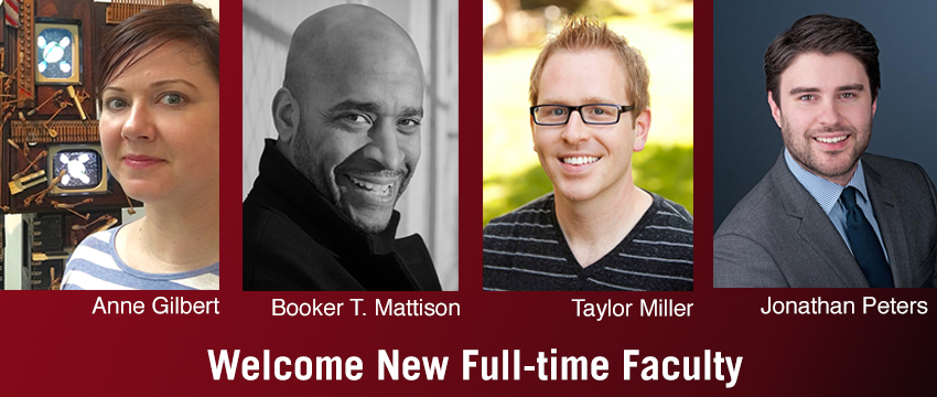 New full-time faculty joining Grady College this fall include three new faculty in the Department of Entertainment and Media Studies (Anne Gilbert, Booker T. Mattison and Taylor Miller) and one new addition to the Department of Journalism (Jonathan Peters).