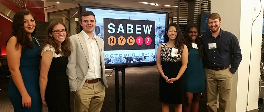 Grady students recognized as 2017 Cox-SABEW Fellows