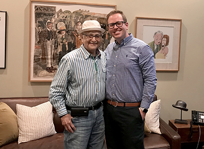Norman Lear and Taylor Cole Miller, Oct. 2017