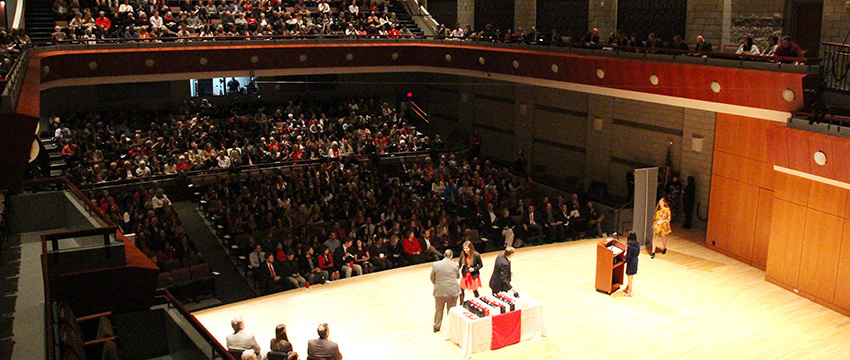Nearly 175 Grady College undergraduate and graduate students were eligible to participate in fall 2017 convocation ceremonies.