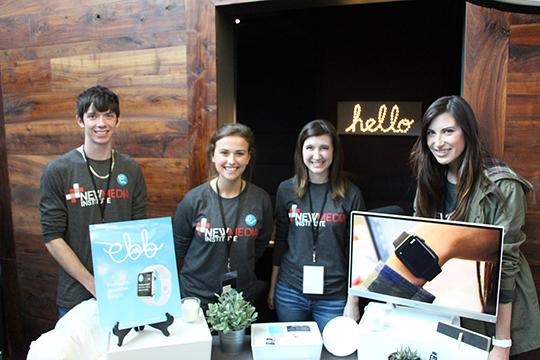 The Ebb app team included Joe Reisigl (ABJ '16), Clarke Modlin (ABJ '17), Madison Hall (AB '17) and Kristyn Hicks (ABJ '17).