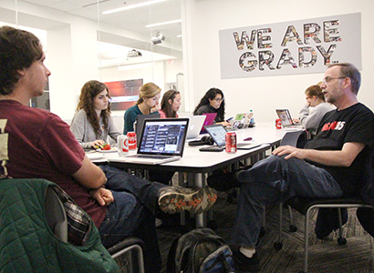 Barry Hollander led the Grady College participation for Electionland, an effort to identify and verify potential problems at the polls for his course, Public Opinion and the 2016 Election.