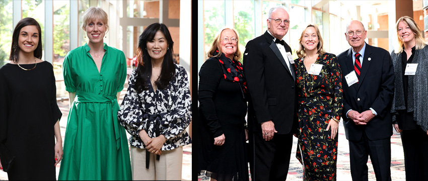 Honorees at Grady Salutes 2018 included Alumni Award winners Polina Marinova, Ashley Huston and Jisu Huh, and Grady Fellowship honorees Melita Easters, David Hazinski, Lisa Ryan Howard, Cully Clark and Lee Thomas. Sally Yates accepted her award in absentia, and Barry Hollander was inducted into the Sanford Circle.
