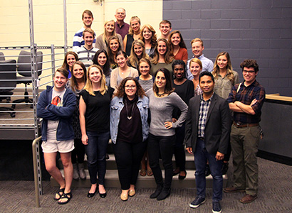 Student teams and their coaches from the 2016 Mobile News Lab on October 24, 2016.