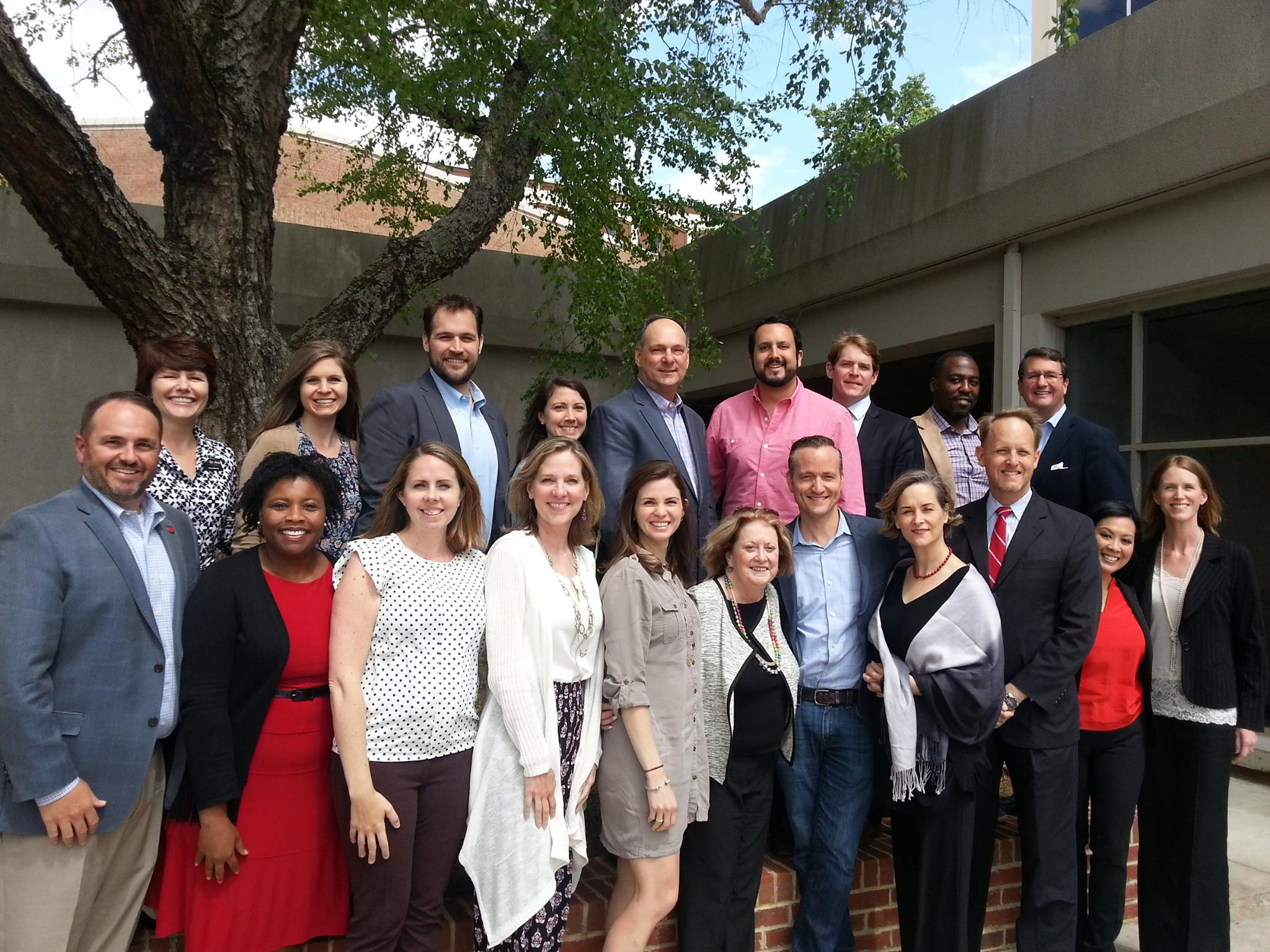 Members of the GSAB pose for a photo following the spring 2015 meeting.