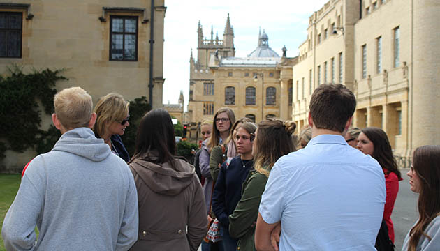 The historic setting in London inspires students in the Grady@Oxford program.