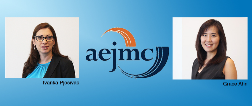 Grace Ahn and Ivanka Pjesivac were recently awarded an AEJMC grant for their study of virtual reality journalism.
