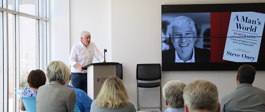 """Steve Oney was the guest of honor at a reception celebrating the release of his new book, """"A Man's World: Portraits—A Gallery of Fighters, Creators, Actors, and Desperadoes."""""""