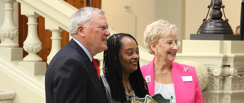 Valerie Boyd was received a Governor's Award for the Arts & Humanities from Governor Nathan Deal and First Lady Sandra Deal.