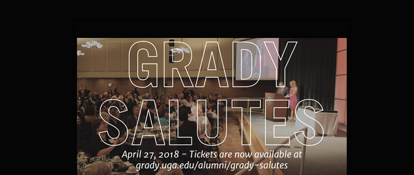 Grady Salutes takes place in Mahler Auditorium at the Georgia Center (picture from 2016 Grady Salutes)