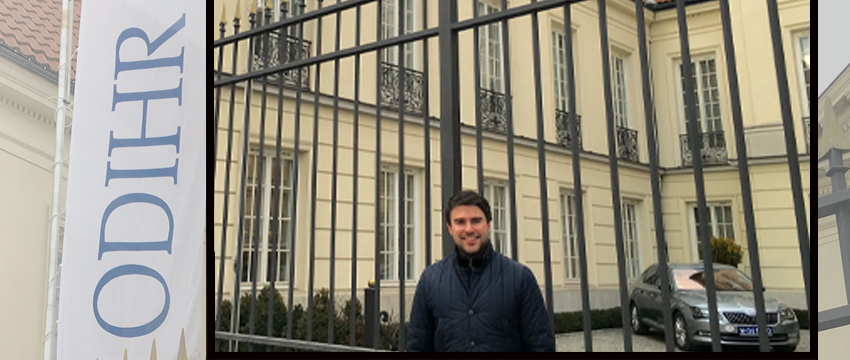 """Jonathan Peters traveled to Warsaw, Poland, last semester to advise European organizations on legal guidelines for press rights at public assemblies. In addition to his faculty positions at Grady College and the School of Law, Peters also serves as the press freedom correspondent for the """"Columbia Journalism Review."""""""