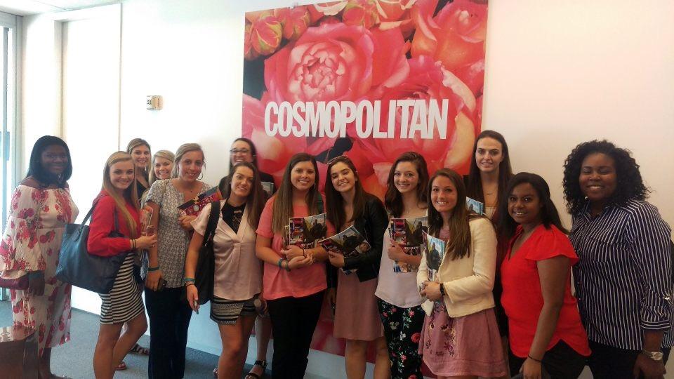 Group of students visit Cosmopolitan headquarters