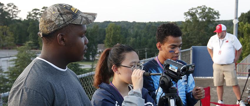 Grady Sports Media students mentor high school students in sports broadcast program