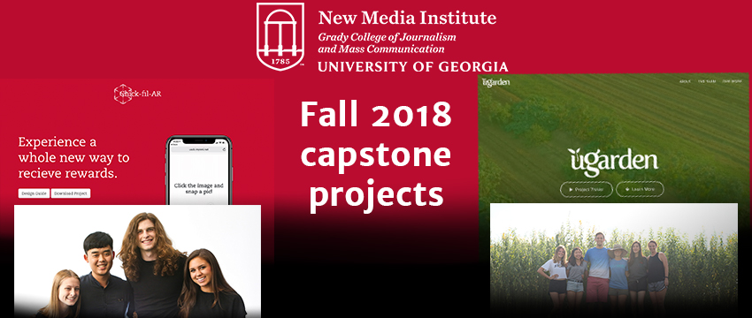 New Media Institute students present capstone projects
