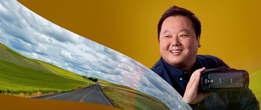 Doctoral student Jihoon Kim researches virtual reality's impact on travel