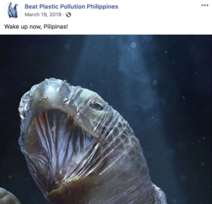 Facebook post from Beat Plastic Pollution Philippines