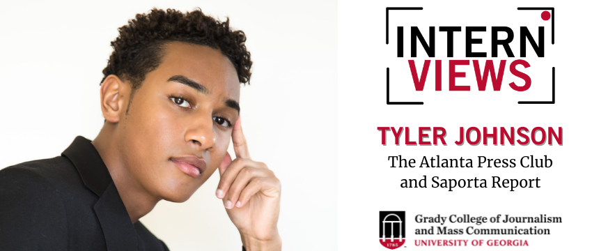 Rising senior Tyler Johnson is spending his summer interning for The Atlanta Press Club and Saporta Report. (Photo: submitted / Graphics: Sam Perez)