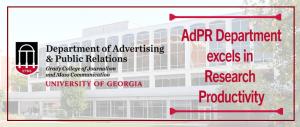 Photo of Grady College with AdPR logo