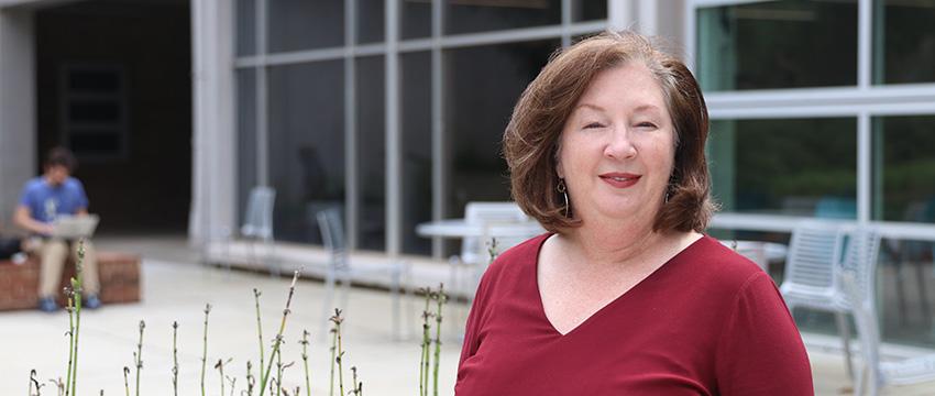 Headshot of Mary Ellen Barto in Media Garden